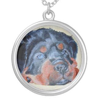 Collier Portrait de chiot de rottweiler