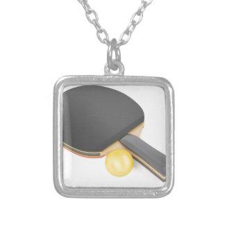 Collier Raquette et boule de ping-pong