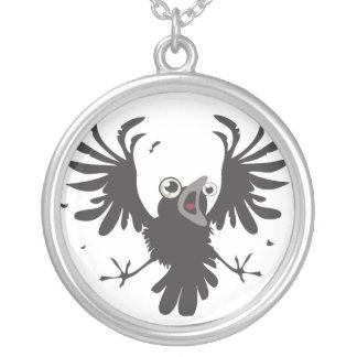 Collier Raven~necklace fou