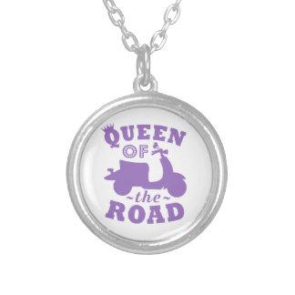 Collier Reine de la route - pourpre