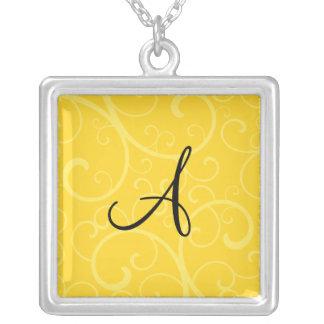 Collier Remous de jaune de monogramme