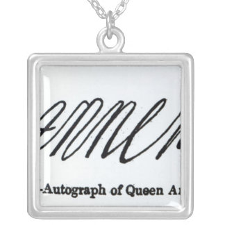 Collier Reproduction de la signature de la Reine Anne