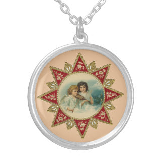 Collier rond d'anges victoriens