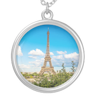 Collier rond de charme de photo de Tour Eiffel