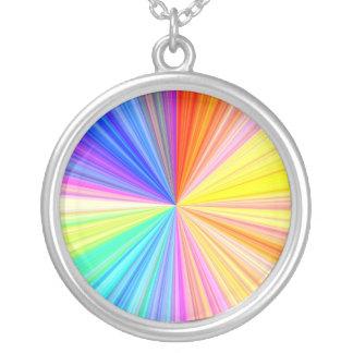 Collier Roue d'ombre de couleur - extrémité d'arc-en-ciel
