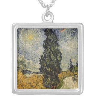 Collier Route de Vincent van Gogh | avec des cyprès, 1890