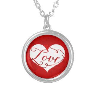 Collier Saint-Valentin rouge de remous de coeur
