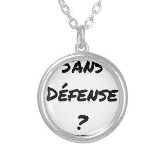 Collier SANS DÉFENSE ? - Jeux de mots - Francois Ville