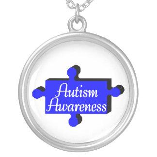 Collier Sensibilisation sur l'autisme (morceau bleu de P)