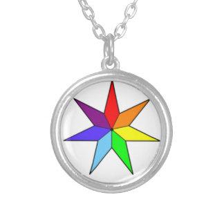 Collier Sept-Aigu d'étoile d'arc-en-ciel