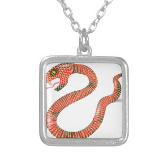 Collier Serpent rouge