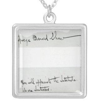 Collier Signature de George Bernard Shaw