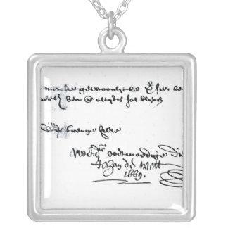 Collier Signature de Johan de Witt