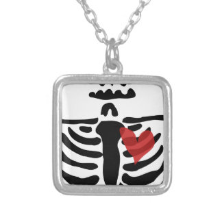 Collier Squelette de coeur