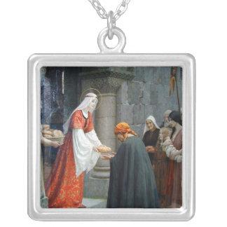 Collier St Elizabeth de la Hongrie alimente les pauvres