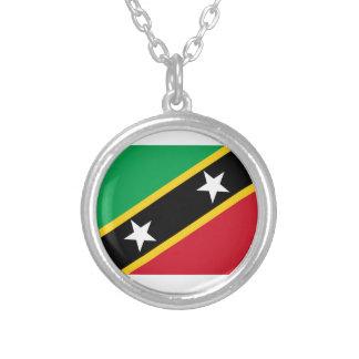 Collier St Kitts et drapeau du Niévès