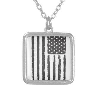 Collier Style grunge noir de purge de drapeau américain