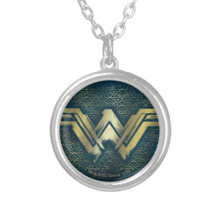 Collier Symbole balayé d'or de femme de merveille