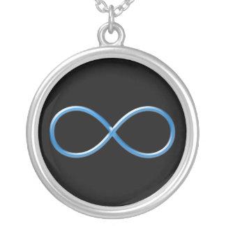 Collier Symbole bleu | d'infini pour toujours