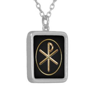 Collier symbole de Chi-Rho