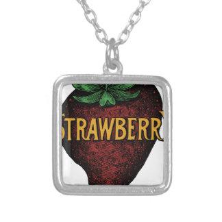 Collier Texte vintage de fraise