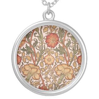 Collier Tissu rose vintage de concepteur de motif floral