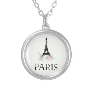 Collier Tour Eiffel à la mode et rougissent les fleurs