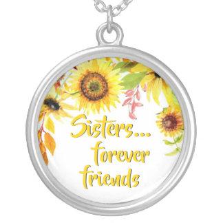 Collier Tournesols d'amis de la citation | de soeurs pour