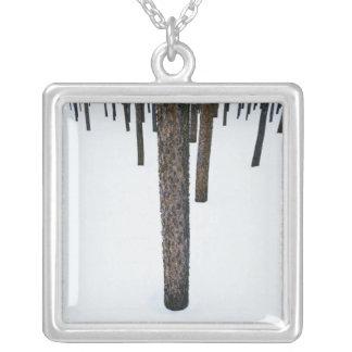 Collier Troncs d'arbre dans la neige