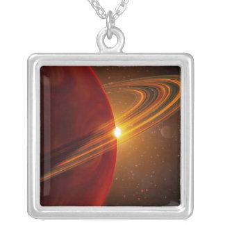 Collier Une mise sur orbite géante de planète soleil-comme