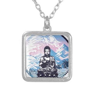 Collier Vague de montagne tropicale de Bouddha