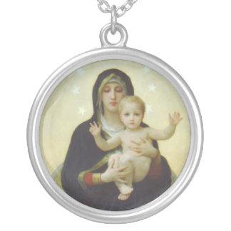 Collier Vierge Marie avec le bébé Jésus