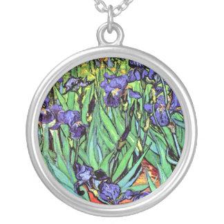 Collier Vincent van Gogh - iris - beaux-arts d'amant de