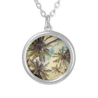 Collier vintage de palmier de Cocos de Kauai Hawaï