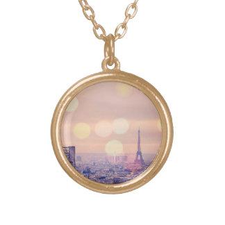 Collier vintage rêveur de Bokeh de Tour Eiffel