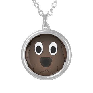 Collier Visage canin de chien de Brown