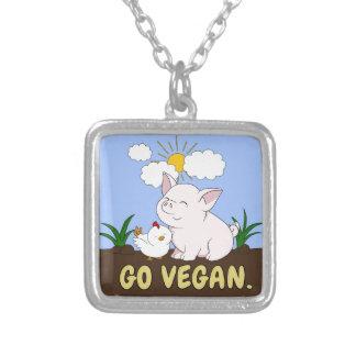 Collier Vont le végétalien - porc et poulet mignons