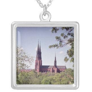 Collier Vue de cathédrale d'Upsal du château
