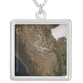 Collier Vue satellite du paysage de Mexi central