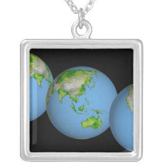 Collier Vues topographiques du monde