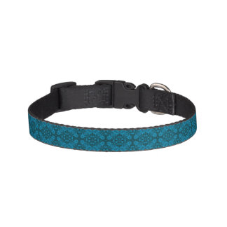 Colliers de chien carrelés noirs et bleus collier pour chien