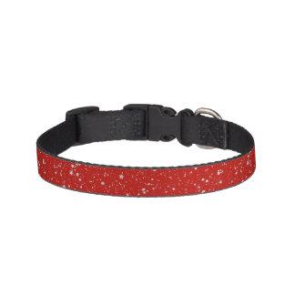 Colliers Pour Animaux Domestiques Étoiles de parties scintillantes - rouge argenté