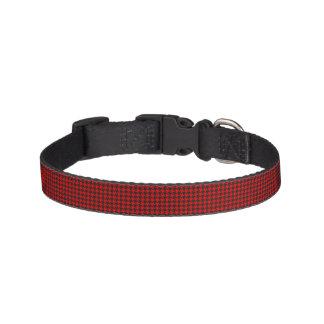 Colliers Pour Animaux Domestiques Motif rouge et noir de pied-de-poule