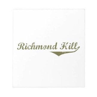 Colline de Richmond Bloc-note