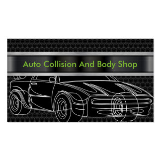 Collision automatique et Body Shop Carte De Visite Standard