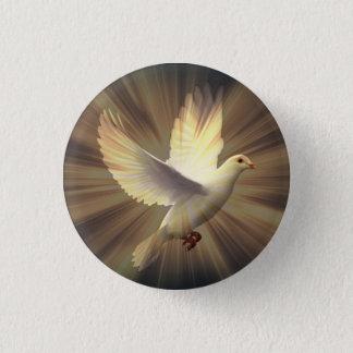 Colombe blanche de paix badge