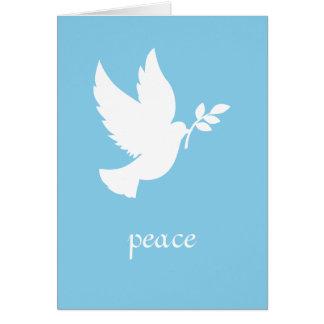 Colombe bleue et blanche de paix cartes