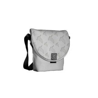 Colombe de blanc sacoche
