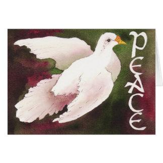 Colombe de carte de Noël de paix