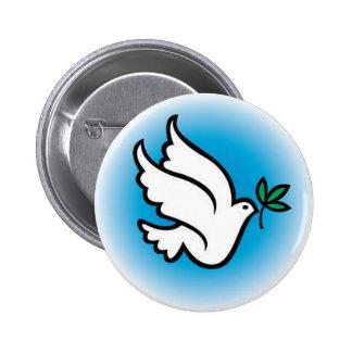 colombe de paix badge rond 5 cm